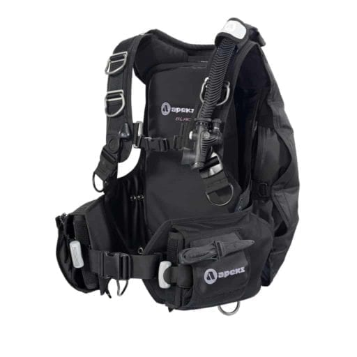 Apeks Black Ice BCD for scuba diving