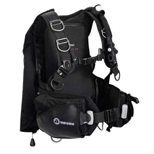 Apeks Black Ice BCD for scuba divers