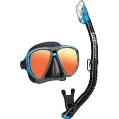Mirrored Snorkel Mask