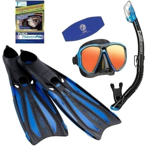 TUSA Powerview Pro Mirror Snorkelling Package