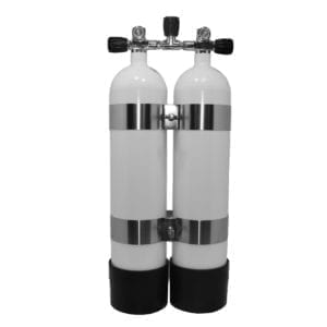 Faber 7 Liter 300 Bar HP Twin Steel Diving Tank Set