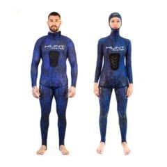 HuntMaster Spearfishing Rashguard Hooded - Blue
